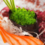 http://www.dreamstime.com/royalty-free-stock-photos-green-tobiko-sushi-image11592988